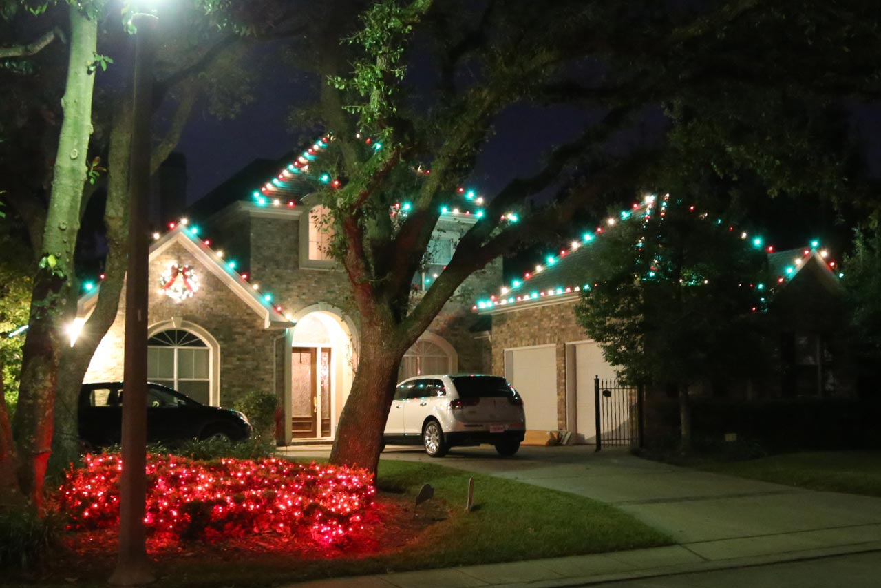 Residential Color Christmas Lights