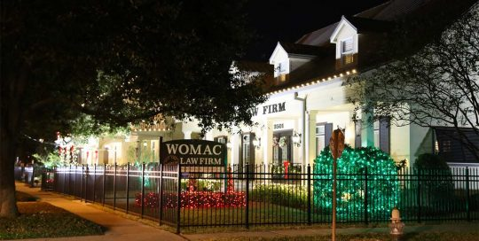 Womac Law Firm Holiday Decor